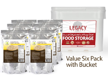 Legacy Steel Cut Oats - 6 Pack w/Bucket