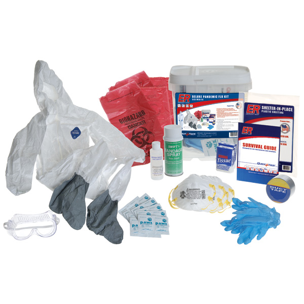 ONE NEW Adult Pandemic Flu  Safety Kit.